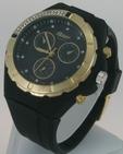 Montre Femme bracelet silicone softouch Dia 4,5 cm noire
